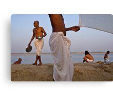 Pilgrims. Varanasi Canvas Print
