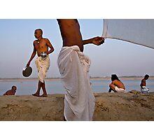 Pilgrims. Varanasi Photographic Print