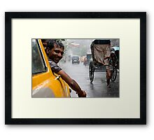 Monsoon. Calcutta Framed Print