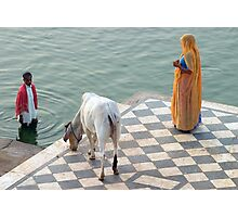 On the Ghats. Pushkar Photographic Print