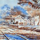 Yarra Glen railway by Christine Lacreole