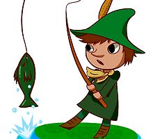 Snufkin goes fishin' by Snusmomrik