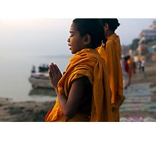 Morning Puja. Varanasi Photographic Print