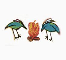 Birds Keeping Warm  One Piece - Short Sleeve