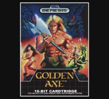 Golden axe Genesis Megadrive Sega Box cover by ruter