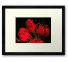 RED & BLACK Framed Print