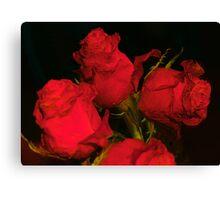 RED & BLACK Canvas Print