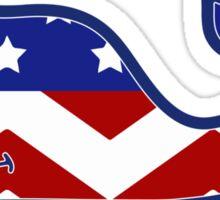Vineyard Vines Whale America Chevron Sticker