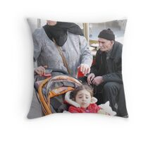 3 Generations Throw Pillow