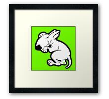 English Bull Terrier Snug Framed Print