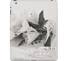 Ribboned White Godetia Flowers iPad Case/Skin