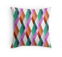 Pastel Diamonds 004 Throw Pillow