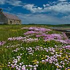 St.Cwyfan's Church-in-the-Sea, Isle of Anglesey by Derek Fogg