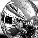 Mirror... Mirror... on the Scooter. B/W by Berns