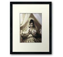 Annette Curtain Framed Print