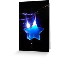 Lone Blue Star Greeting Card