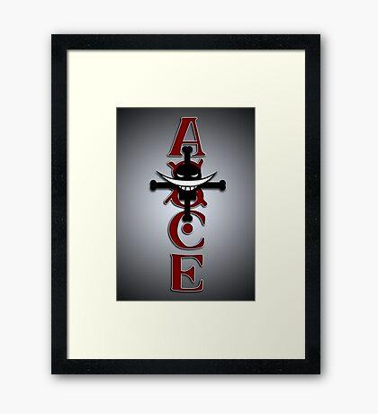 Ace Tattoo Framed Print