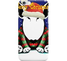 English Bull Terrier Christmas Card iPhone Case/Skin