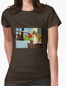 Nipper In The Bud Womens Fitted T-Shirt