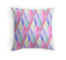 Pastel Diamonds 005 Throw Pillow
