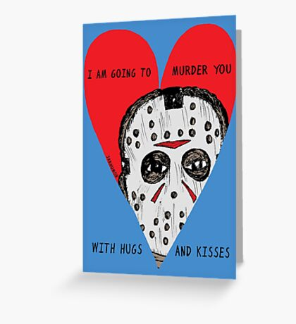 Murder Love Greeting Card