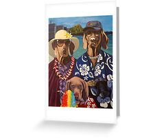 American Dogs in Hawaii Greeting Card