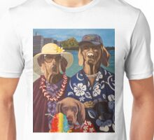 American Dogs in Hawaii Unisex T-Shirt