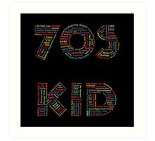 70s Kid Art Print