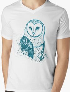 Owl Tee Mens V-Neck T-Shirt