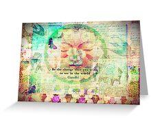 Inspirational Gandhi Change quote Greeting Card