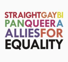 Straight, Gay, Bi, Pan, Queer, A - Allies For Equality One Piece - Short Sleeve