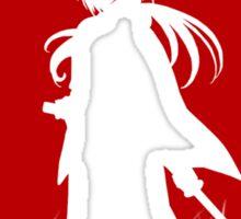 Red Moon Samurai Sticker