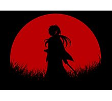 Red Moon Samurai Photographic Print