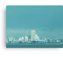 Not The Emerald City, Quite ~ Buffalo In Blue Canvas Print