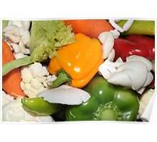 Fresh and colorful veggies Poster