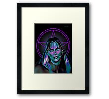Shades .. tales of witch craft Framed Print