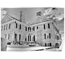 2-19-10 WILLIAM MACLAY MANSION IN BLACK AND WHITE Poster