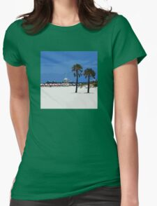 Clearwater Beach Womens Fitted T-Shirt