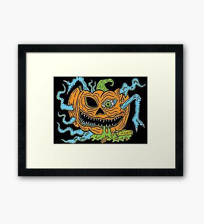 Pumpkin Creep Framed Print
