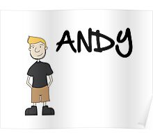 Andy Funny Art Poster
