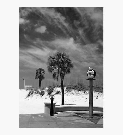 Clearwater Beach Mono Photographic Print