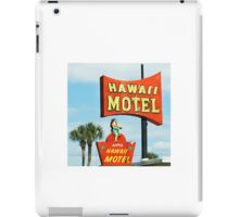 hawaii motel iPad Case/Skin