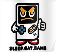 Sleep Eat Game T-shirt Poster