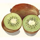 Sliced Kiwi Fruit by Maureen Sparling