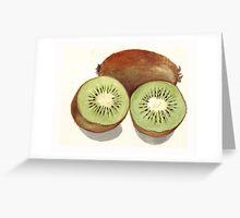 Sliced Kiwi Fruit Greeting Card