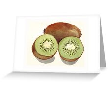 Sliced Kiwi Fruit Greeting Card