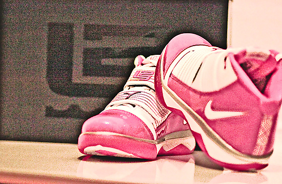 Pink Nike Zoom Lebron Soldiers by Heather Linfoot