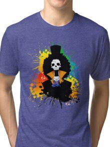 Afro Grunge Skull Tri-blend T-Shirt
