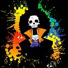 Afro Grunge Skull by jpmdesign