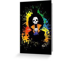 Afro Grunge Skull Greeting Card